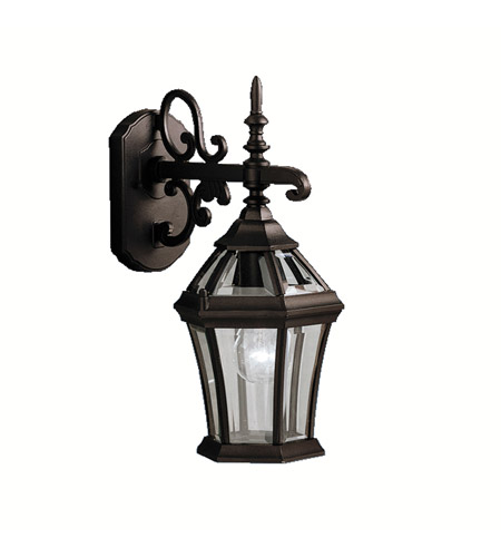 Kichler Lighting Townhouse 1 Light Outdoor Wall Lantern in Black (Painted) 9789BK