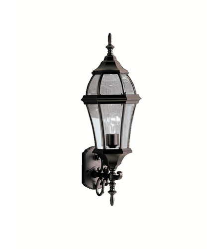 Kichler Lighting Townhouse 1 Light Outdoor Wall Lantern in Black (Painted) 9791BK