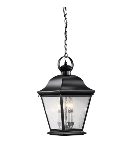 Kichler Lighting Mount Vernon 4 Light Outdoor Hanging Pendant in Black 9804BK photo