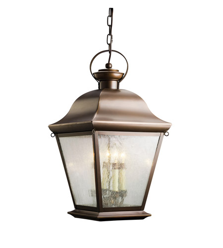 Kichler Lighting Mount Vernon 4 Light Outdoor Pendant in Olde Bronze 9804OZ photo