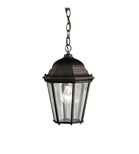 Kichler Lighting Madison 1 Light Outdoor Pendant in Black (Painted) 9805BK