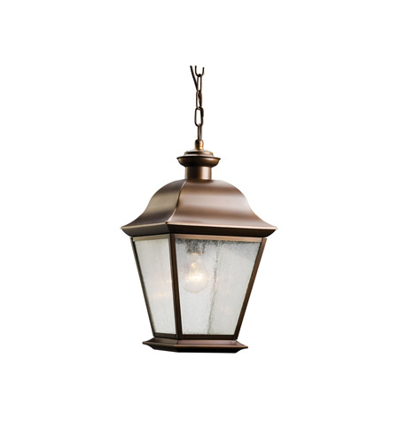 Kichler 9809OZ Mount Vernon 1 Light 10 inch Olde Bronze Outdoor Pendant in Standard photo
