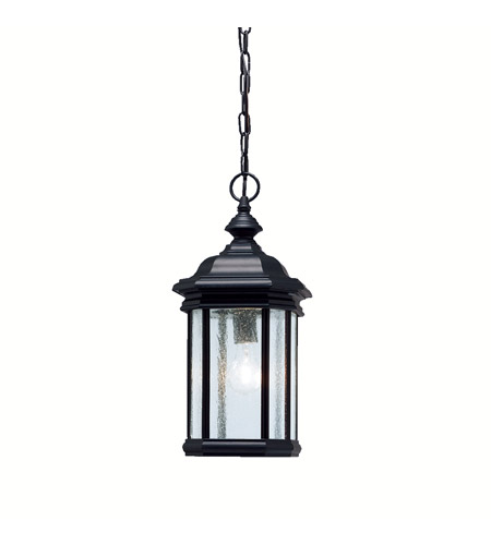 Kichler Lighting Kirkwood 1 Light Outdoor Pendant in Black 9810BK