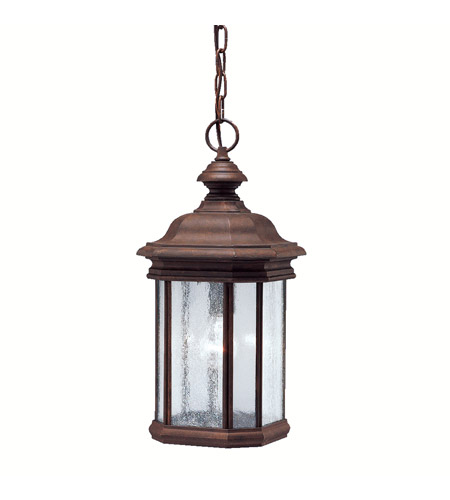 Kichler Lighting Kirkwood 1 Light Outdoor Pendant in Tannery Bronze 9810TZ