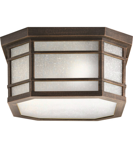 Kichler Lighting Cameron 3 Light Outdoor Flush Mount in Prairie Rock 9811PR photo