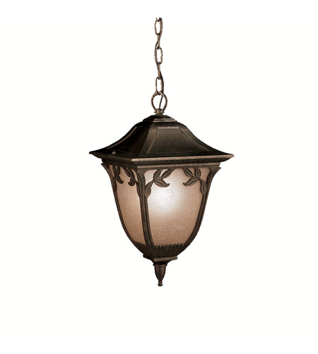 Kichler Lighting Lynnewood Gardens 1 Light Outdoor Pendant in Legacy Bronze 9815LZ photo