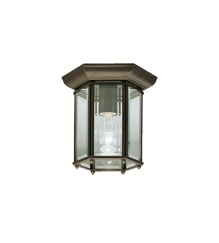 Kichler Lighting Signature 1 Light Outdoor Flush Mount in Olde Bronze 9816OZ