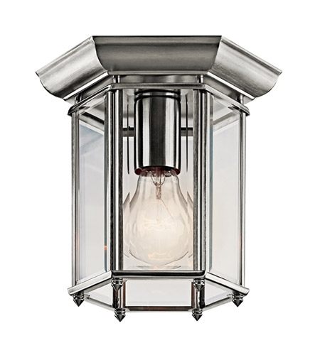 Kichler Lighting Signature 1 Light Outdoor Flush Mount in Stainless Steel 9816SS photo
