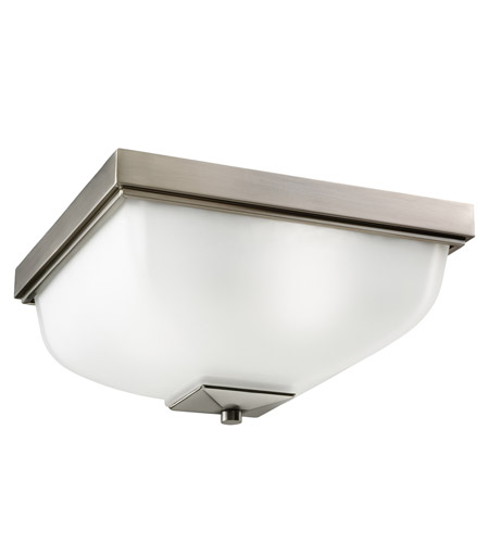 Kichler Lighting Signature 2 Light Outdoor Flush Mount in Antique Pewter 9817AP
