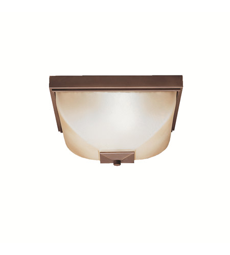 Kichler Lighting Benton 2 Light Outdoor Flush Mount in Olde Bronze 9817OZ