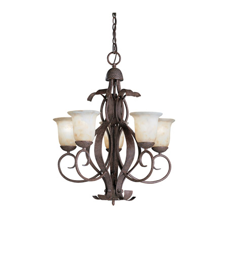 Kichler Lighting High Country 5 Light Outdoor Chandelier in Old Iron 9818OI photo