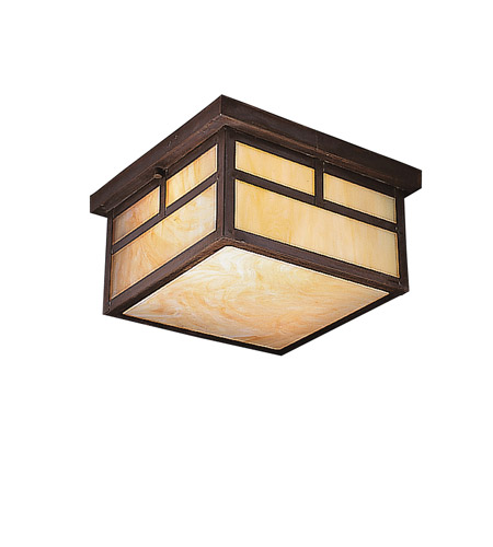 Kichler Lighting La Mesa 2 Light Outdoor Flush Mount in Canyon View 9825CV