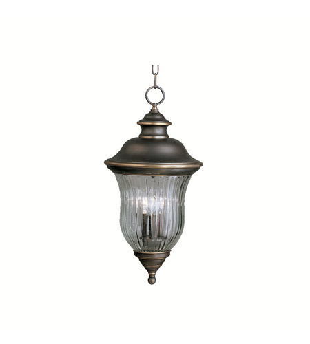 Kichler 9832OZ Sausalito 3 Light 12 inch Olde Bronze Outdoor Pendant photo