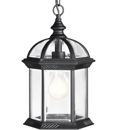 Kichler Lighting Barrie 1 Light Outdoor Pendant in Black 9835BK photo