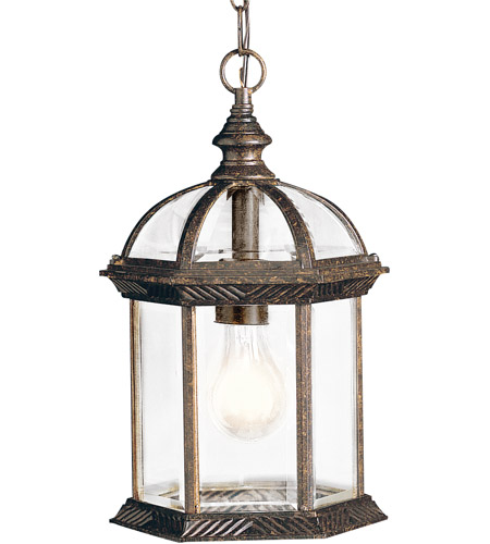Kichler Lighting Barrie 1 Light Outdoor Pendant in Tannery Bronze 9835TZ