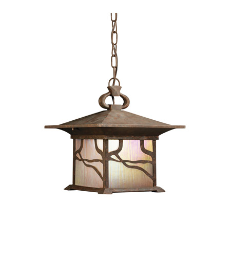 Kichler Lighting Morris 1 Light Outdoor Pendant in Distressed Copper 9837DCO photo