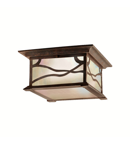 Kichler Lighting Morris 2 Light Outdoor Flush Mount in Distressed Copper 9838DCO photo