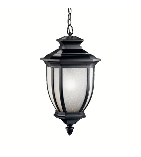 Kichler 9843BK Salisbury 1 Light 12 inch Black Outdoor Pendant photo