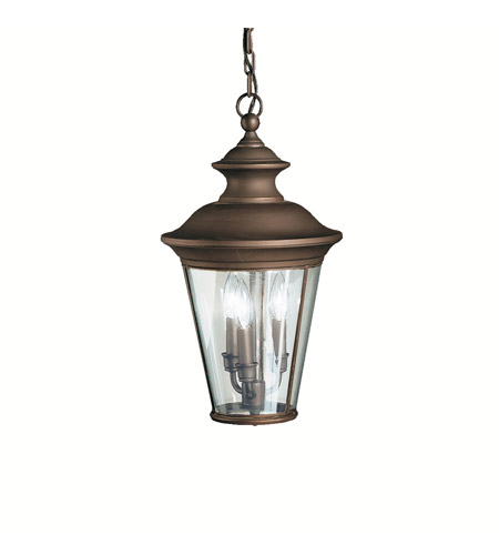 Kichler Lighting Eau Claire 3 Light Outdoor Pendant in Olde Bronze 9847OZ photo