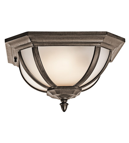Kichler Lighting Signature 2 Light Outdoor Flush Mount in Brown Stone 9848BST photo