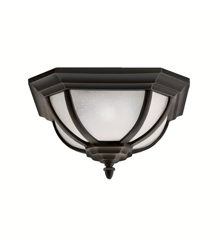 Kichler Lighting Signature 2 Light Outdoor Flush Mount in Rubbed Bronze 9848RZ