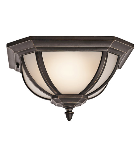 Kichler Lighting Signature 2 Light Outdoor Flush Mount in Rubbed Bronze 9848RZS