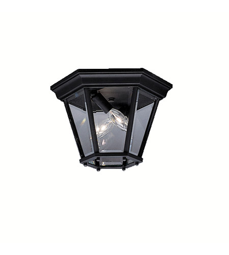 Kichler Lighting Madison 2 Light Outdoor Flush Mount in Black (Painted) 9850BK