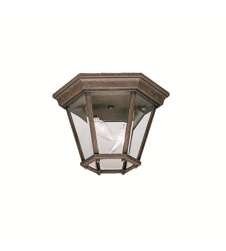 Kichler Lighting Madison 2 Light Outdoor Flush Mount in Tannery Bronze 9850TZ