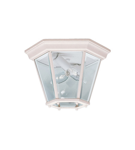 Kichler Lighting Madison 2 Light Outdoor Flush Mount in White 9850WH