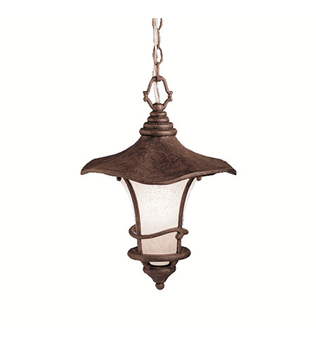 Kichler Lighting Cotswold 1 Light Outdoor Pendant in Aged Bronze 9852AGZ photo