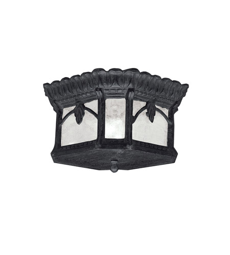 Kichler Lighting Tournai 2 Light Outdoor Flush & Semi Flush Mount in Textured Black 9854BKT