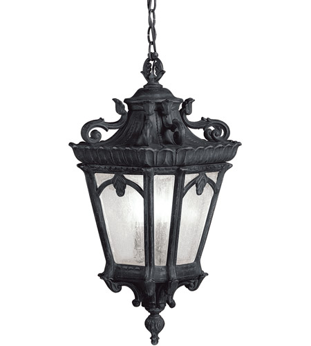 Kichler 9855BKT Tournai 3 Light 12 inch Textured Black Outdoor Hanging Pendant photo thumbnail