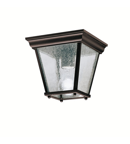 Kichler Lighting Signature 1 Light Outdoor Flush Mount in Black 9859BK photo