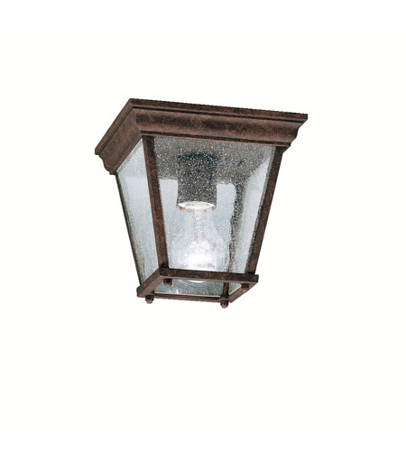Kichler Lighting Signature 1 Light Outdoor Flush Mount in Tannery Bronze 9859TZ photo