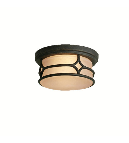 Kichler Lighting Chicago 2 Light Outdoor Flush Mount in Aged Bronze 9867AGZ photo