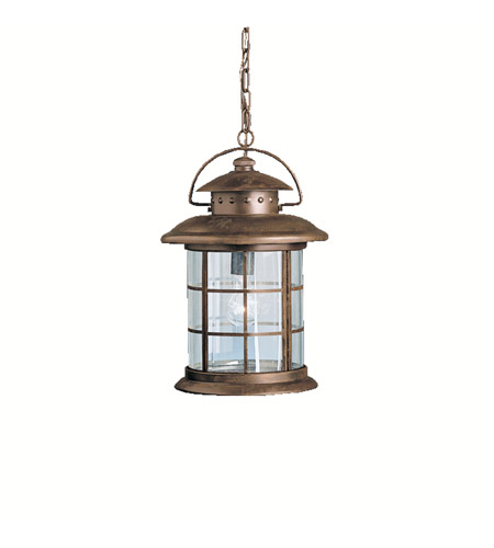Kichler Lighting Rustic 1 Light Outdoor Pendant in Rustic 9870RST photo