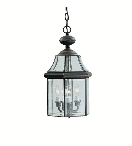 Kichler 9885OZ Embassy Row 3 Light 11 inch Olde Bronze Outdoor Pendant photo
