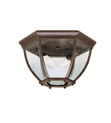 Kichler 9886TZ Signature 2 Light 12 inch Tannery Bronze Outdoor Flush Mount in Clear Glass photo