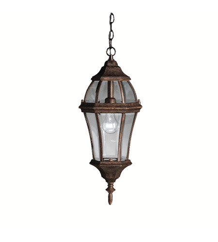 Kichler Lighting Townhouse 1 Light Outdoor Pendant in Tannery Bronze 9892TZ