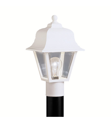 Kichler Lighting Outdoor Plastic Fixtures 1 Light Outdoor Post Lantern in White 9901WH