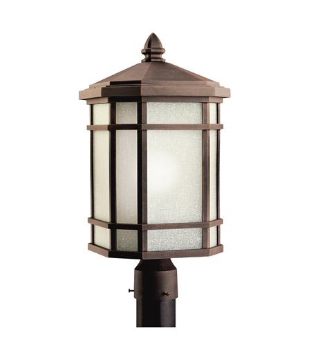Kichler Lighting Cameron 1 Light Outdoor Post Lantern in Prairie Rock 9902PR photo