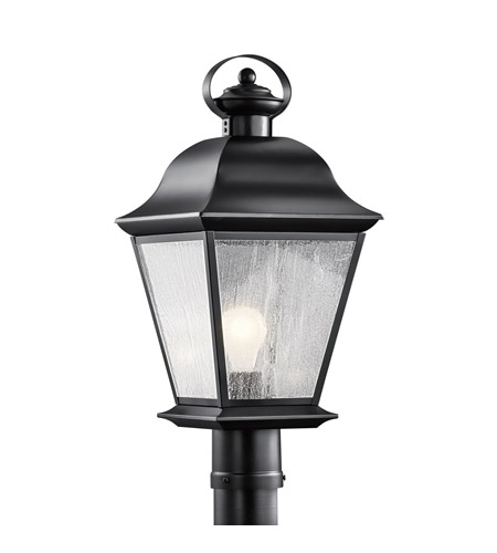 Kichler 9909BK Mount Vernon 1 Light 21 inch Black Post Lantern in Standard photo