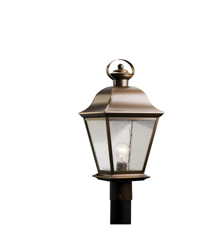 Kichler 9909OZ Mount Vernon 1 Light 21 inch Olde Bronze Outdoor Post Lantern in Standard photo