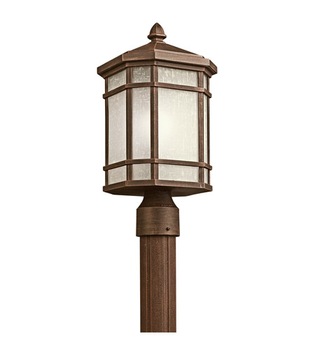 Kichler Lighting Cameron 1 Light Outdoor Post Lantern in Prairie Rock 9911PR photo