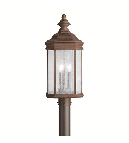 Kichler Lighting Kirkwood 3 Light Outdoor Post Lantern in Tannery Bronze 9918TZ photo