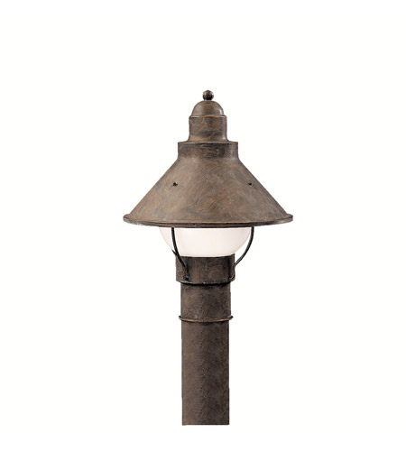 Kichler Lighting Seaside 1 Light Outdoor Post Lantern in Olde Brick 9923OB photo
