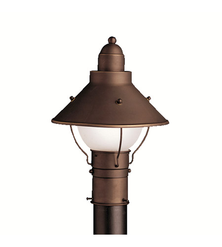 Kichler Lighting Seaside 1 Light Outdoor Post Lantern in Olde Bronze 9923OZ photo
