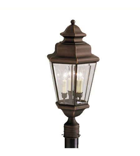 Kichler Lighting Savannah Estates 3 Light Outdoor Post Lantern in Olde Bronze 9931OZ photo