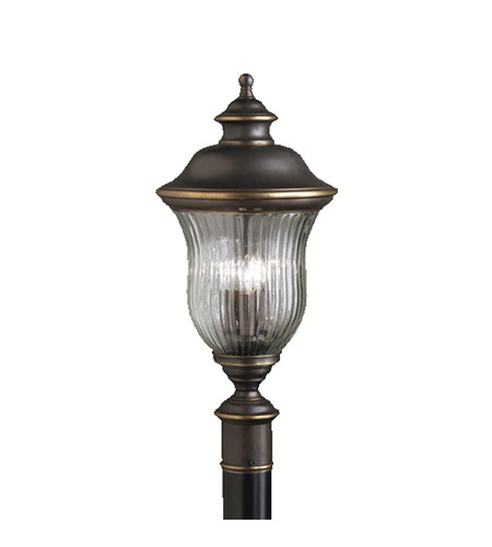 Kichler Lighting Sausalito 3 Light Outdoor Post Lantern in Olde Bronze 9932OZ photo