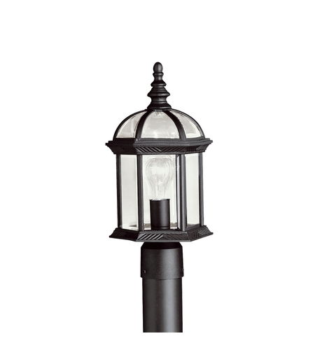 Kichler Lighting Barrie 1 Light Outdoor Post Lantern in Black 9935BK